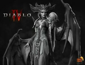 Lilith Diablo IV 75mm Fanart - Demon Hellborn Succubus Woman Resin Fantasy D&D