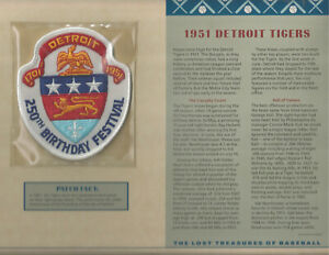 WILLABEE & WARD SEALED LOST TREASURE PATCH w INFO CARD 1951 DETROIT TIGERS