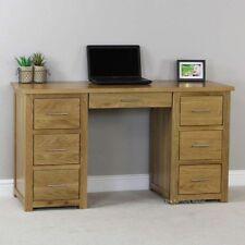 Oak Home Office Furniture Computer Desks with Shelves