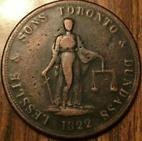 1822 UPPER CANADA LESSLIE AND SONS TWOPENNY TOKEN - Very rare