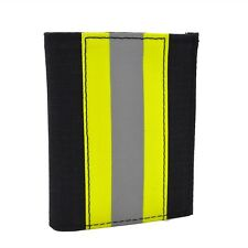 Firefighter Turnout Wallet Bunker Gear Leather Bifold Fire Department NOMEX