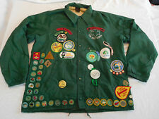 Vintage Girl Scout Jacket Coat Large 70+ Patch Badge 70s 80s Camporee Peace Arch