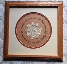 "FRAMED PICTURE CROCHETED DOILEY ""LOVE IS LIKE CANDLELIGHT"""