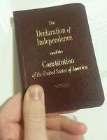 Round Edge Pocket Size United States Declaration Of Independence & Constitution