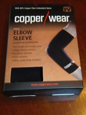 """COPPER WEAR ELBOW Sleeve Comfortable Compression  """" As Seen On Tv """" LARGE(CW-2)"""