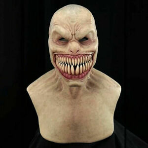 USA Halloween Scary Latex Full Head Mask Cosplay Clown Face Cover Devil Costumes