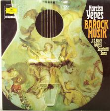 """Narciso Yepes Barocco Musica J.S.BACH Bianco Scarlatti Sanz 12 """" LP (c383)"""