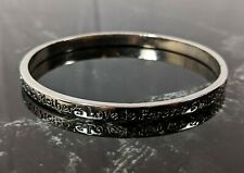 Lovely Vintage Silver Tone Bangle Bracelet Mothers are Angels on Earth