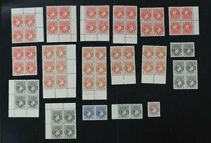 Nigeria F/VF 1938 KGVI stamps ALL MNH fresh no toning (k114)