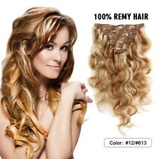 FEBAY Body Wave Clip in Human Hair Extensions 100% Brazilian Remy Human Hair