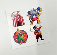Circus Big Top Temporary Tattoos - Carnival Party Bag Fillers  Pack Sizes 4 - 72