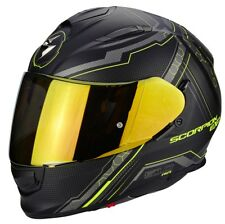 Scorpion casco integral Exo-510 Air Sync negro Mato Neon amarillo L