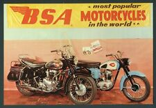 1960 Bsa Motorcycles Factory Advertising Giant Postcard