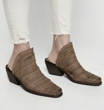 Jeffrey Campbell Mule Boot taupe Weave Leather 40/9 New