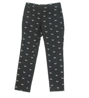 Ann Taylor Loft Black Marisa Dog Dachshund Slacks Crop Pants Size 0