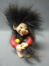 Vintage Candy Design of Norway Shelf Troll Figurine Forest Gnome Sitting w Tail