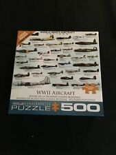 """Eurographics 500 Pc Puzzle WWII Aircraft 19"""" x 13"""""""