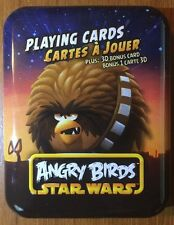 Angry Birds Star Wars Playing Cards--Brown Bird on Tin--Free Shipping