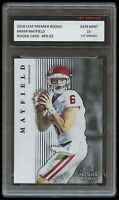 BAKER MAYFIELD 2018 LEAF PREMIER 1ST GRADED 10 ROOKIE CARD NFL CLEVELAND BROWNS