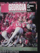 1983 Georgia Bulldogs vs Florida Gators Football Game Program 50th Gatorbowl UGA