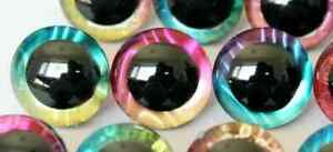 Holographic Colored 14mm-50mm Extra Large Safety Eyes Teddy Bear Doll Toy Craft