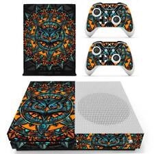 Xbox one S Slim Console Controllers Abstract Art Owl Vinyl Decal Skins Stickers
