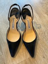 manolo blahnik 38.5 Women's Shoes Black Pump