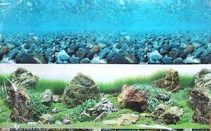 """12"""" Double Sided Aquarium Background Backdrop Fish Tank Reptile Marine BG178"""