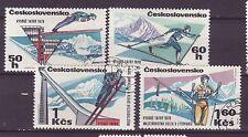 Tschechoslowakei Nr.  1916-19 gest. Nordische Skiweltmeisterschaft Hohe Tatra -5