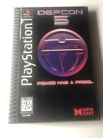 Defcon 5 Sony Playstation 1 PS1 Long Box Video Game