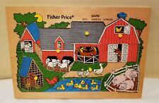 Vintage Fisher-Price 10 Piece Pick Up & Peak Puzzle Barn #2711 1971-1982