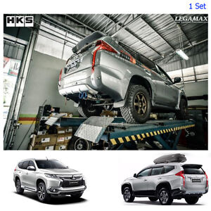 Stainless Exhaust Pipe 2 Anodized Tip For Mitsubishi Pajero Montero Sport 15 17