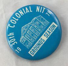 Orig Colonial Invitation Fort Worth Golf Tournament Badge Pin Ground Season 1978