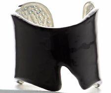 Kenneth J Lane KJL Black Enamel Cuff Bracelet