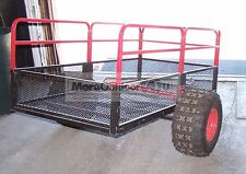 TX158 YUTRAX Steel Mesh ATV Trails Yard Wood Hauler Utility Tow Trailer USED