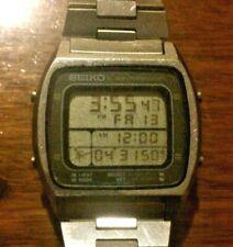 Vintage Seiko Running Man A714-5000 Mens Chronograph Digital Watch