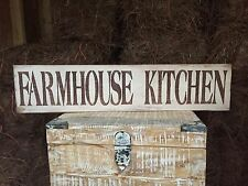 "Large Rustic Wood Sign - ""Farmhouse Kitchen"" -Fixer Upper, HGTV, DIY, Brown"