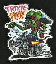 "OFFICIALLY LICENSED ED ""BIG DADDY"" ROTH RAT FINK TRIXIE FINK HOT ROD RACER PATCH"