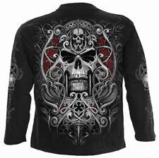 Spiral Direct REAPER'S DOOR LONG SLEEVE T-Shirt/Biker/Goth/Skull/Angel/Reaper