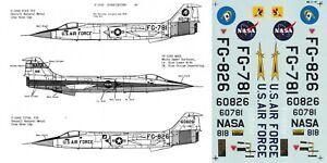 *RARE* MICROSCALE DECALS 1/32 F-104A YF-104A Starfighter 337th FIS (USAF/NASA)