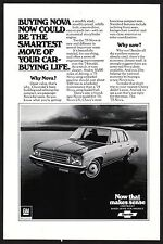 1975 Original Vintage Chevy Chevrolet Nova Car Photo Print Ad