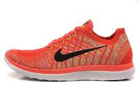 NIB 11m Nike Free 4.0 Flyknit HOT LAVA Running Shoes 717075-600 Men NIKE NEW