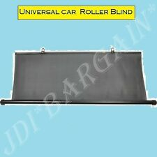 Rear Window Blind Tint Car Roller Curtain Sun Shade Universal(T)Type Black 110cm