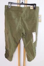 Woolrich Hiking Capri Green Women's Size 8 NEW NWT Pants Runs Large