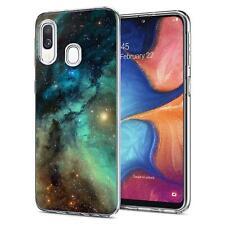 Handy Tasche Samsung Galaxy A20e Schutz hülle Silikon Motiv Case TPU Clear Cover