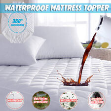 Waterproof Mattress Topper Protector Cover Pad Hypoallergenic Against Dust Mites