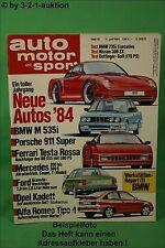 AMS Auto Motor Sport 14/84 VW Golf Oettinger 2000 E/16 BMW 735i Nissan