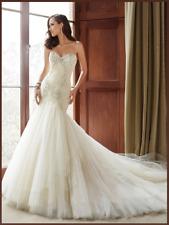 "Sophia Tolli Y21514 ""Cory"" Almond Size 14 Wedding Dress"