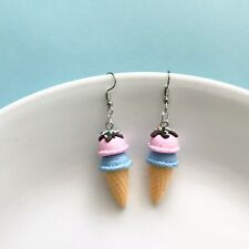 Cute Miniature Ice Cream Fun Dangle Earrings / Festival/ Quirky