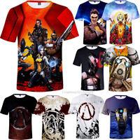 Games Borderlands 3 Full Print Unisex T-shirt Men's Soft Short Sleeve Tops Tee